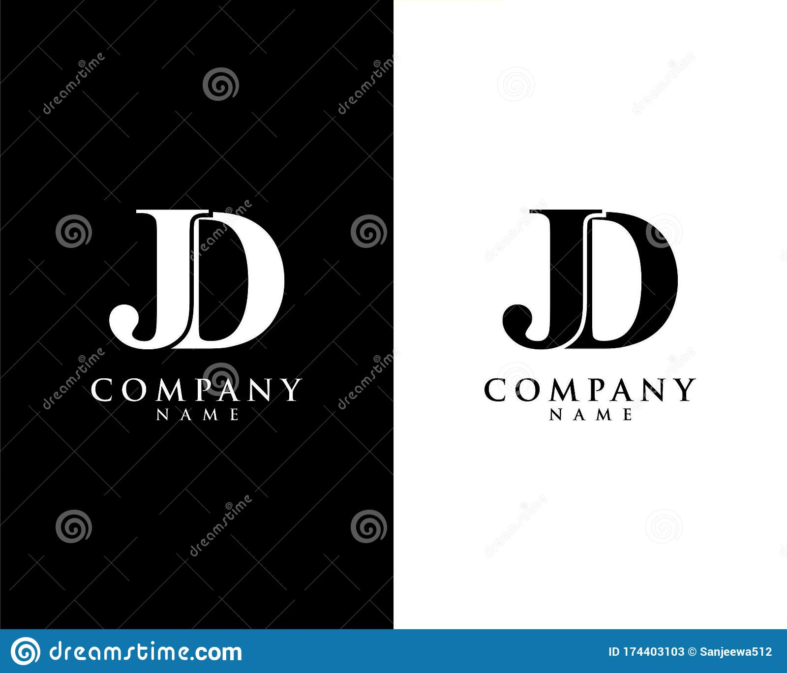 jd dj initial company name logo template vector stock vector illustration of elegant clean 174403103 https www dreamstime com jd dj initial company name logo template vector black white background image174403103