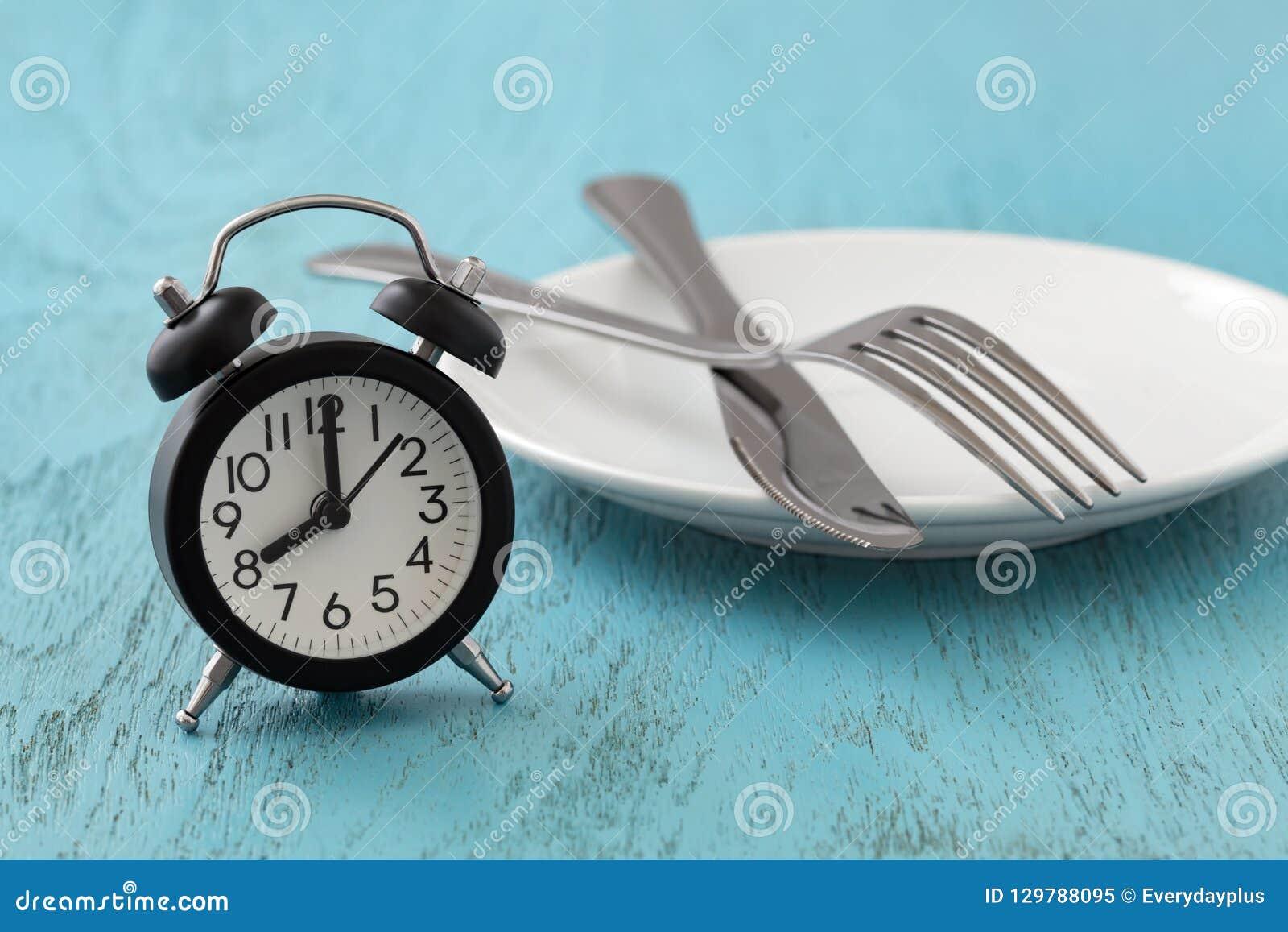 Jeûne intermittent, régime, concept de perte de poids