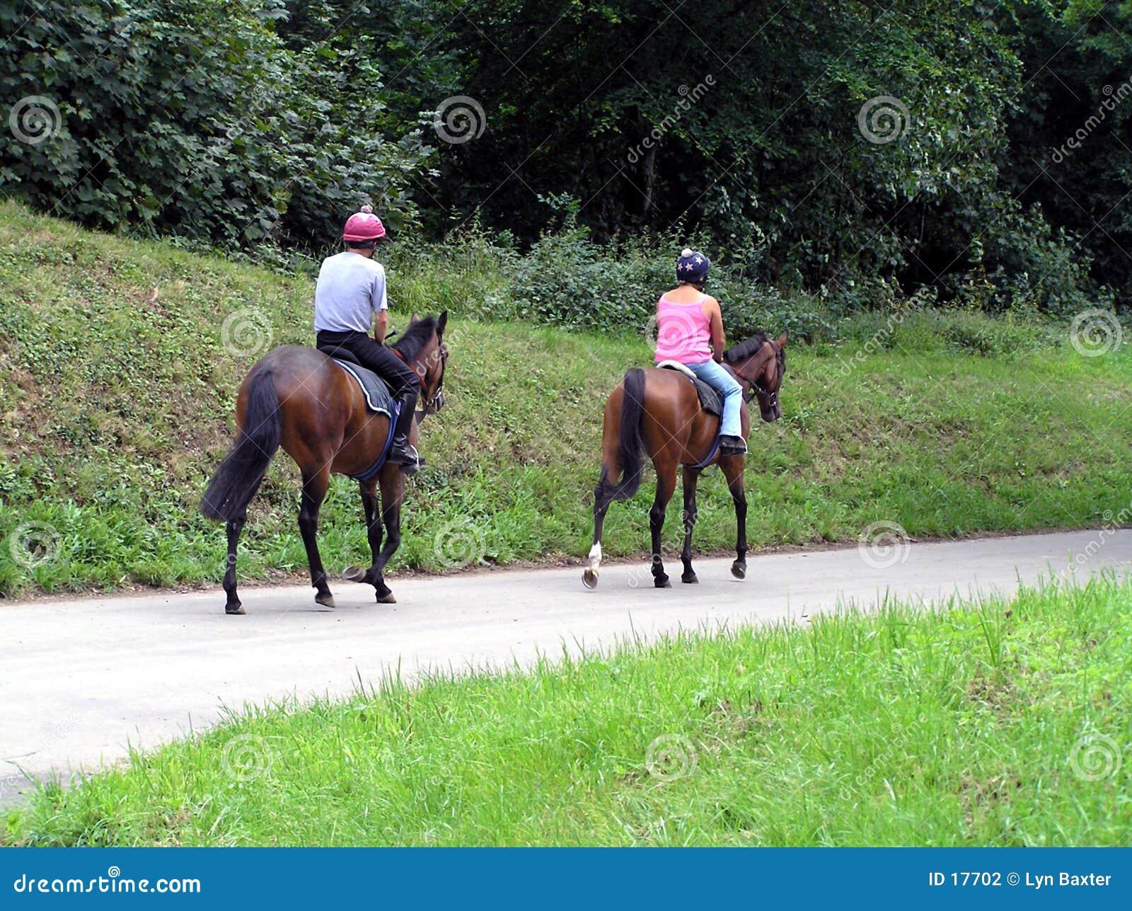 Jeździec jest sam