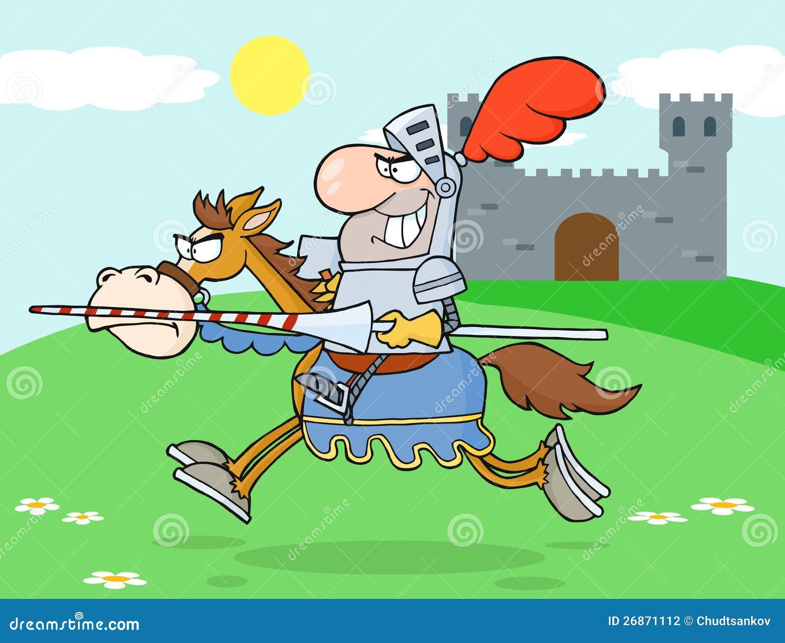 Jeździecki rycerza Koń