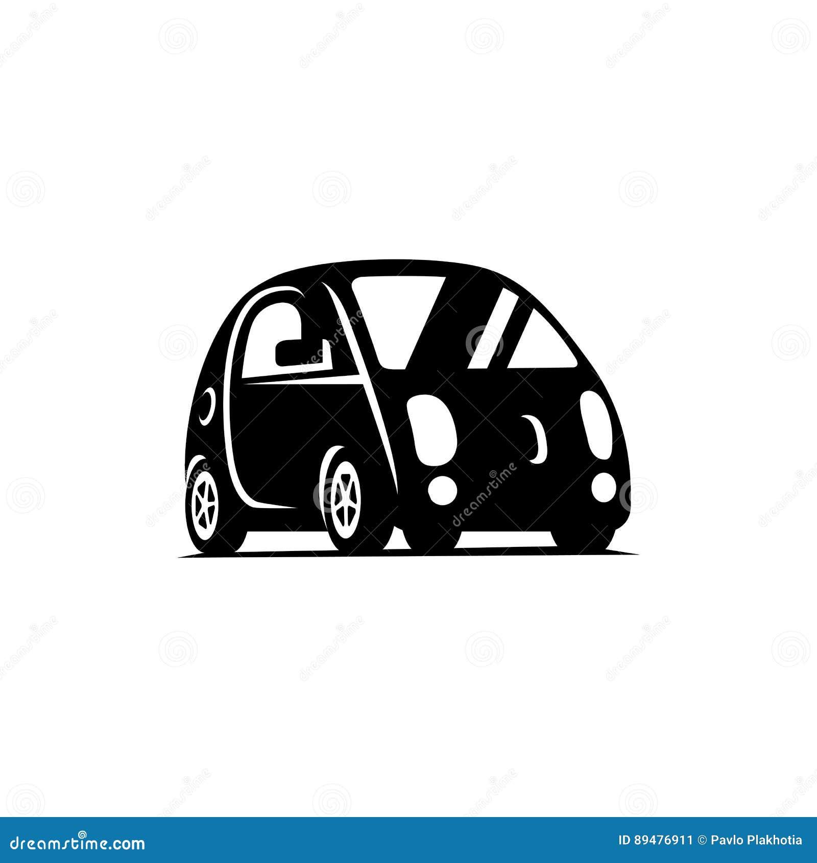 Jeżdżenie driverless pojazd Samochodowa bocznego widoku mieszkania ikona