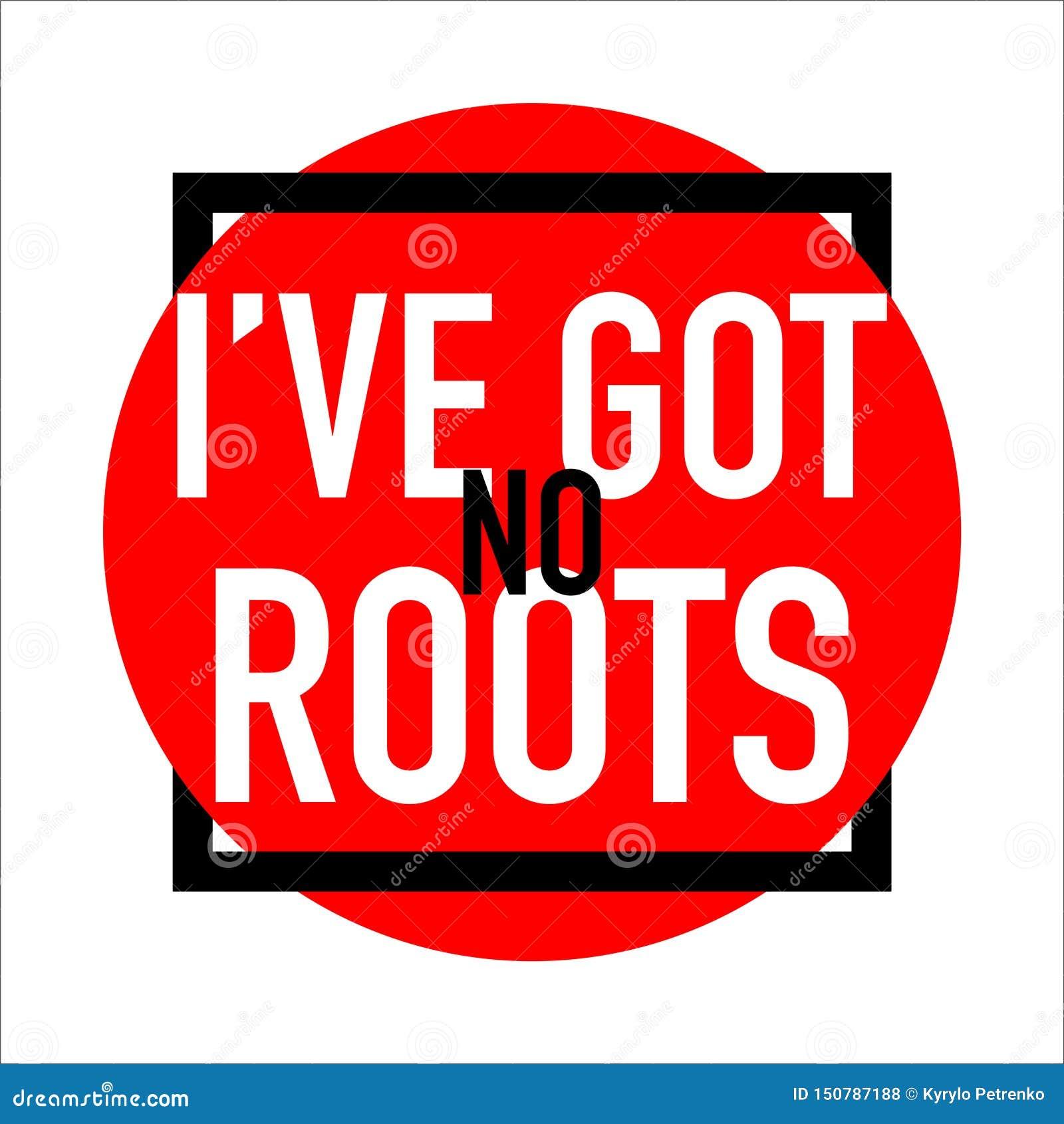 Je n ai aucun abrégé sur bannière de logo de racines