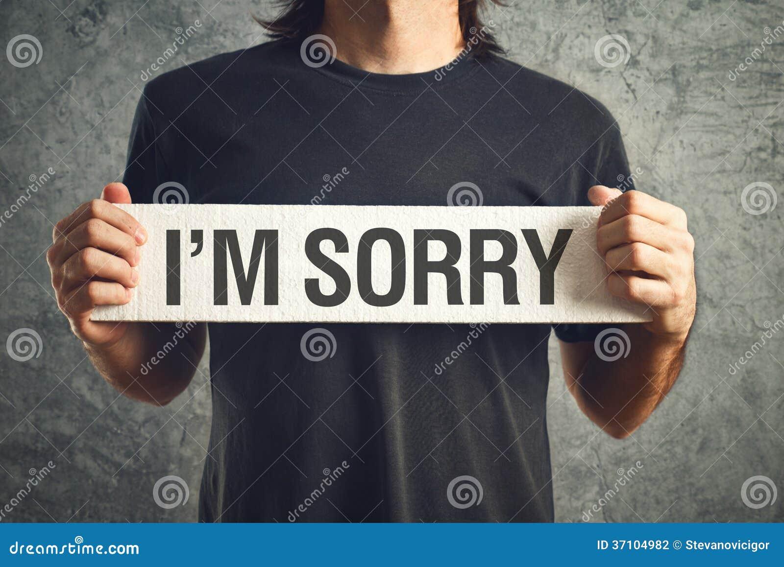 Je suis message désolé