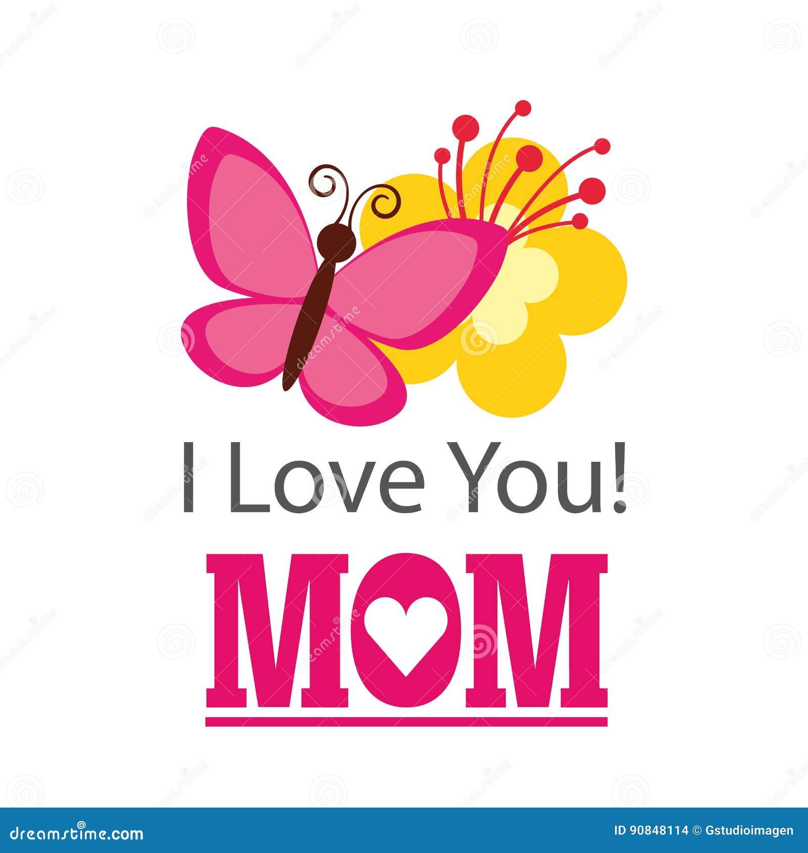 Je t aime carte de maman