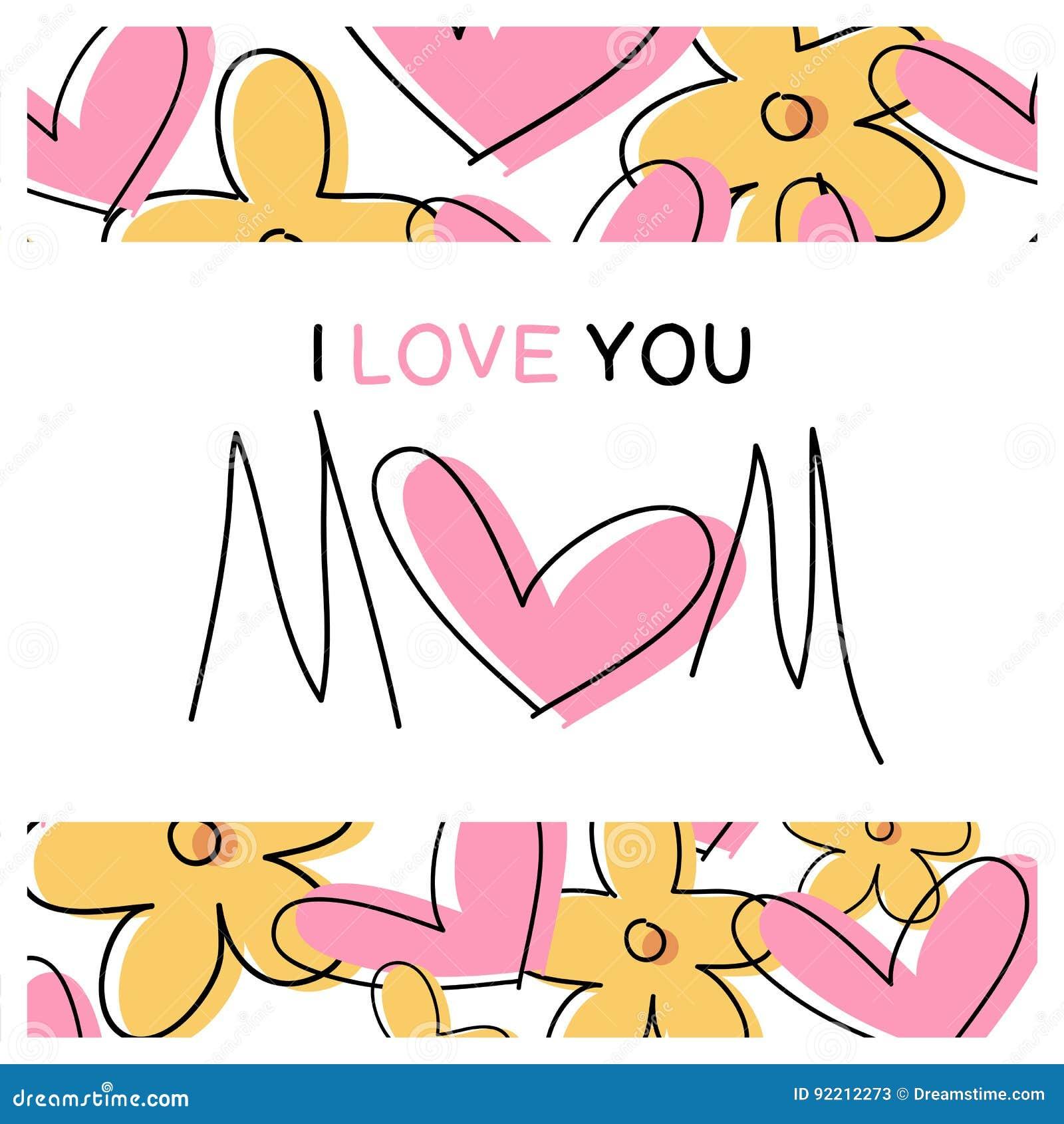 Je Taime Maman Message Carte Enfantez Le Jour Du S
