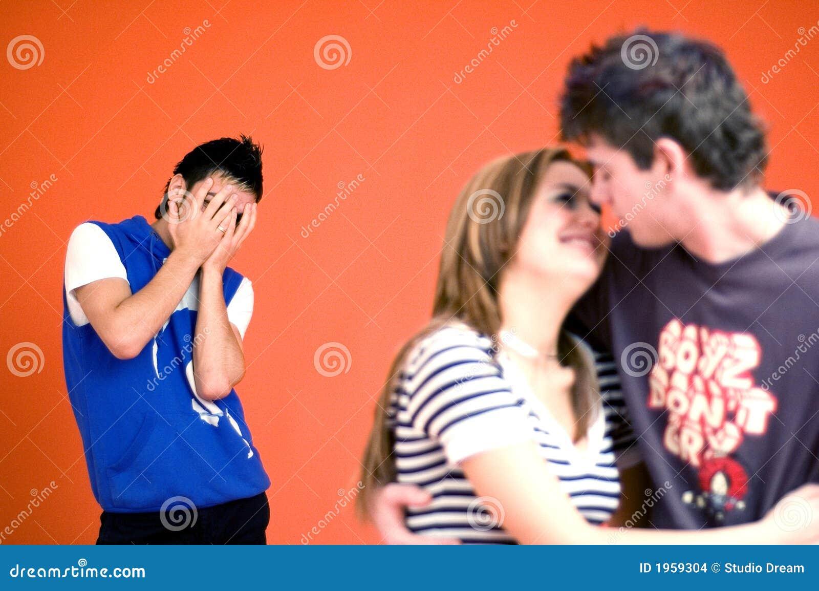 Jealous Guy, Couple Embracing