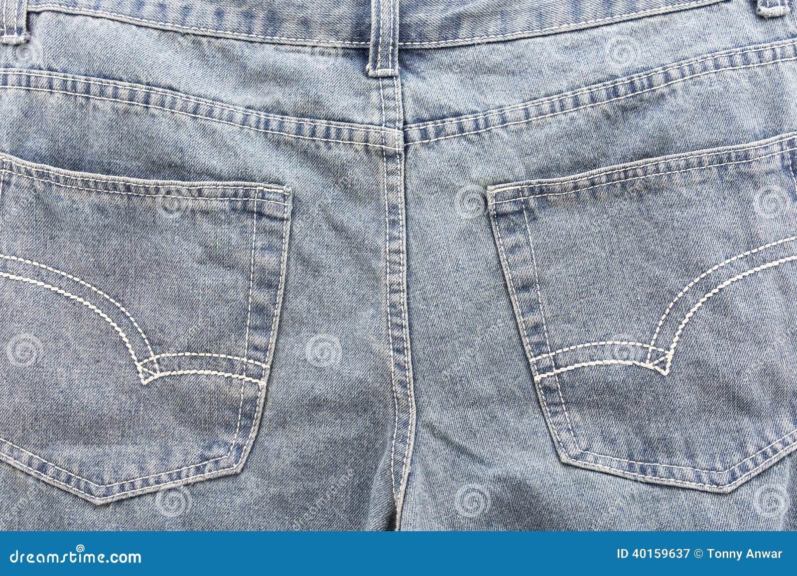 Jeans Back Pocket Texture Jean pocket stock imag...