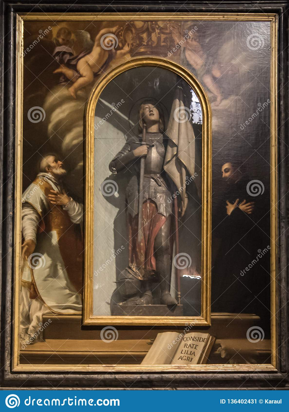 Jeanne d Arc, peignant en église de San Michele in foro