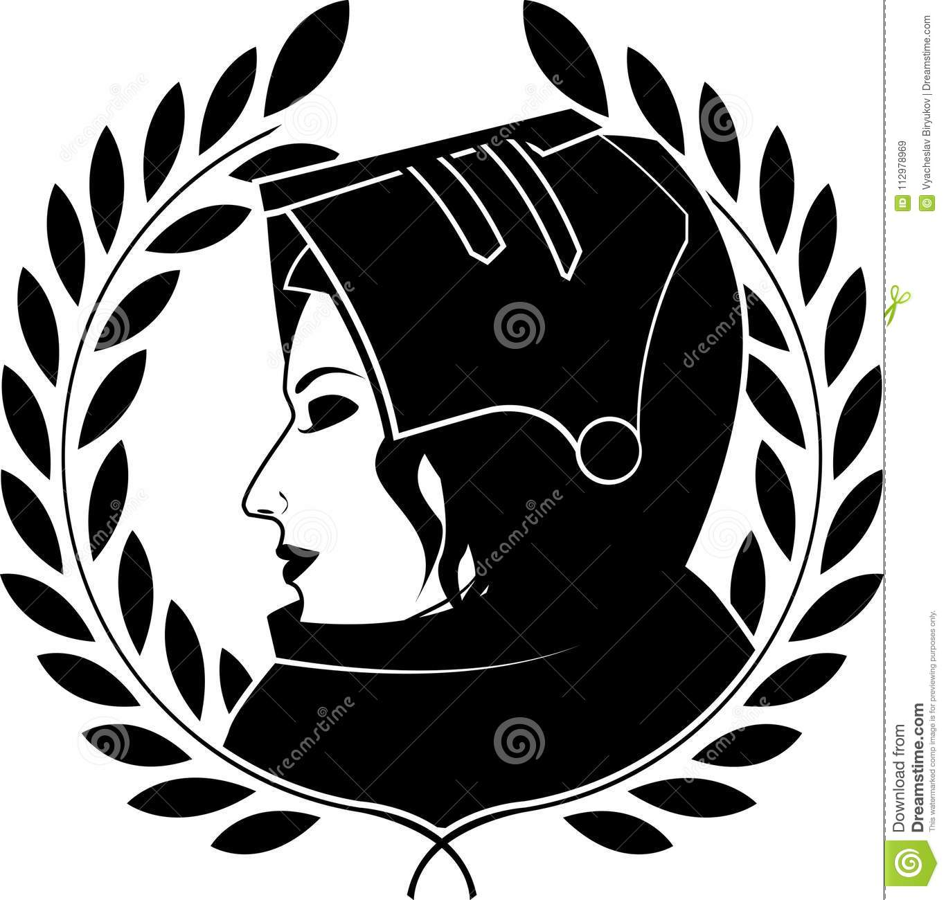 Jeanne darc and laurel wreath