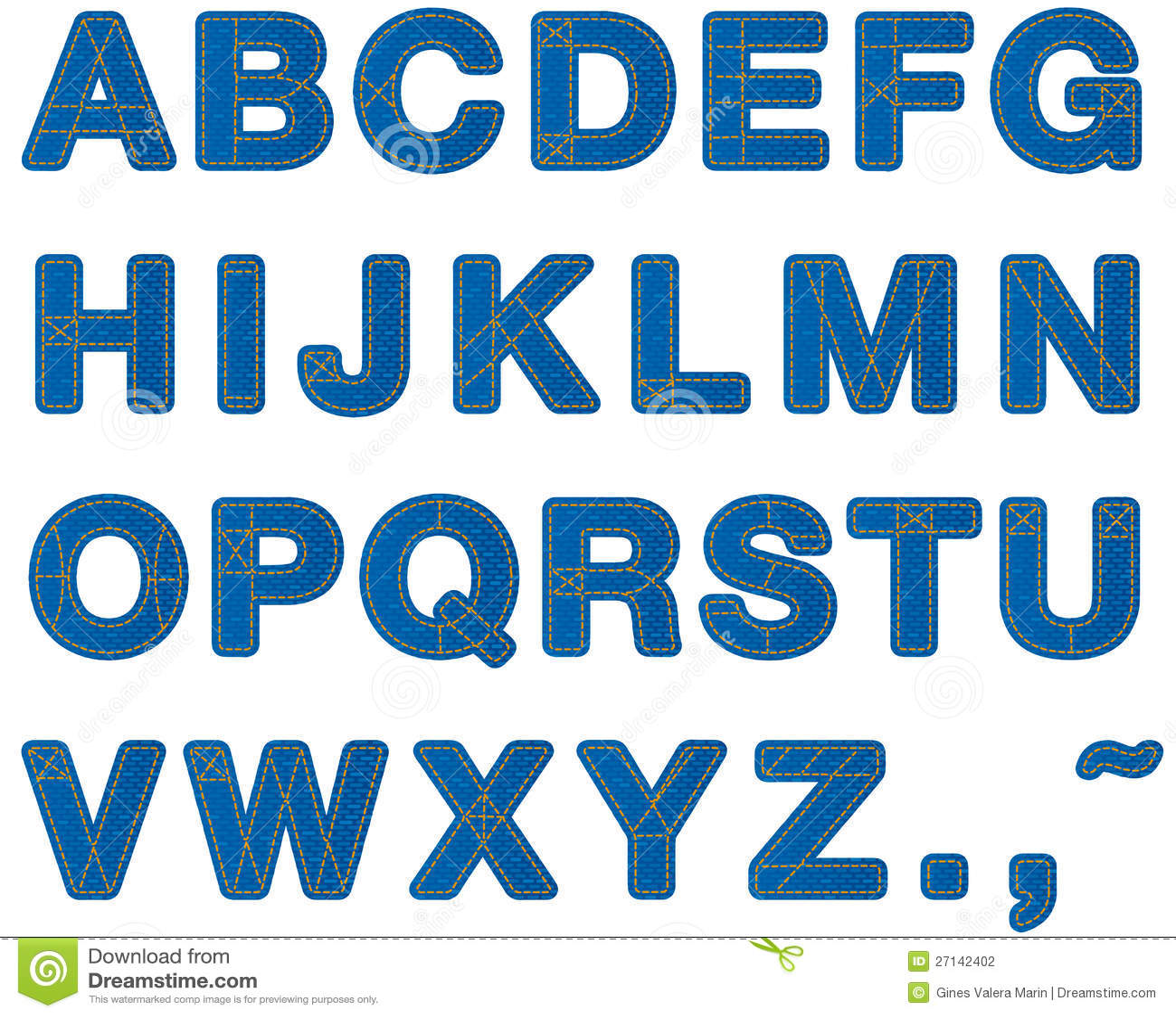Jeans Alphabet Upper Case Stock Photography - Image: 27142402