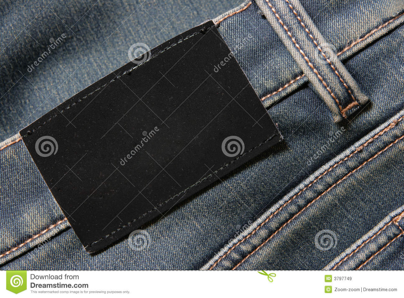 Jeans with blank black label