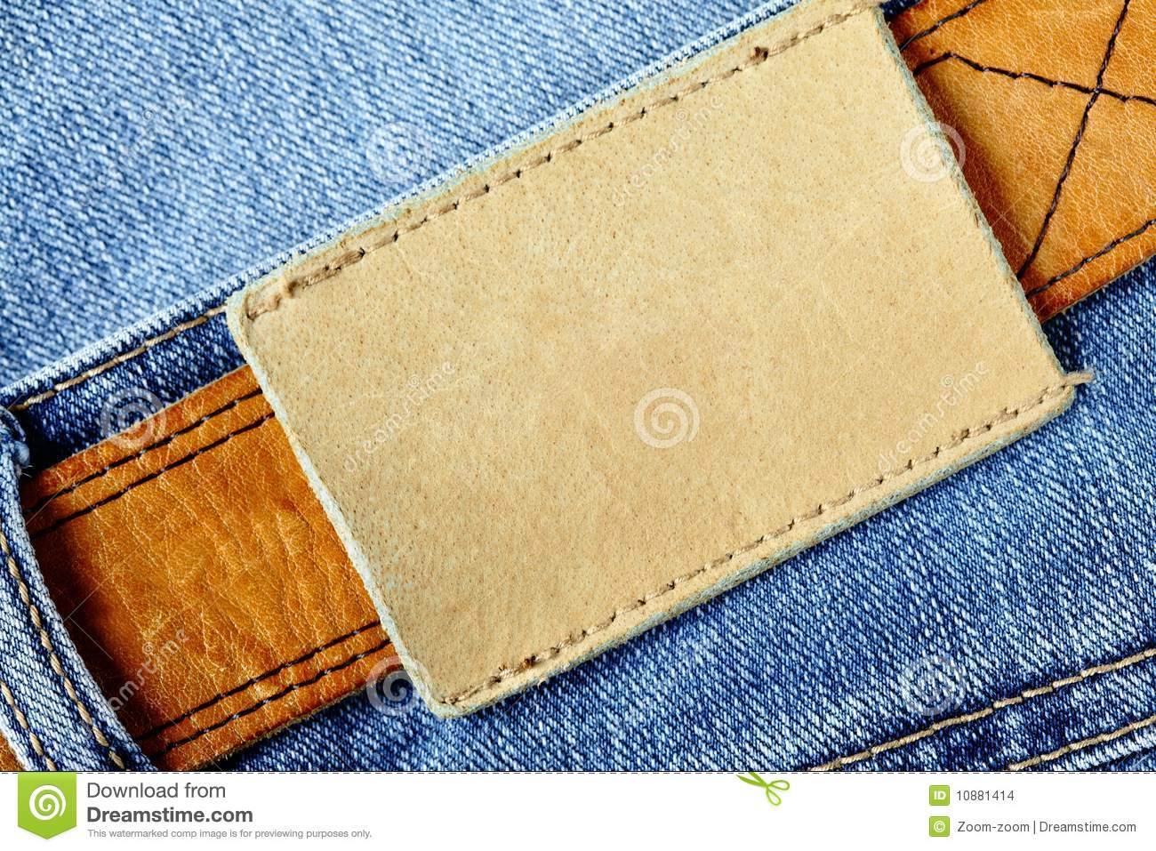 Jeans with blank label