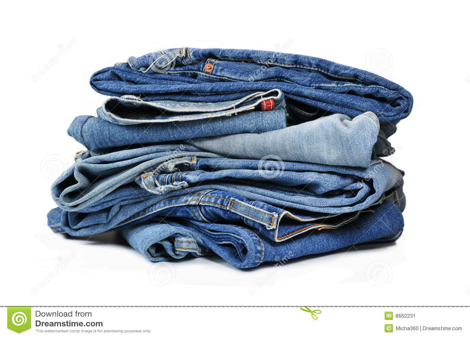 Jeans bleus de denim
