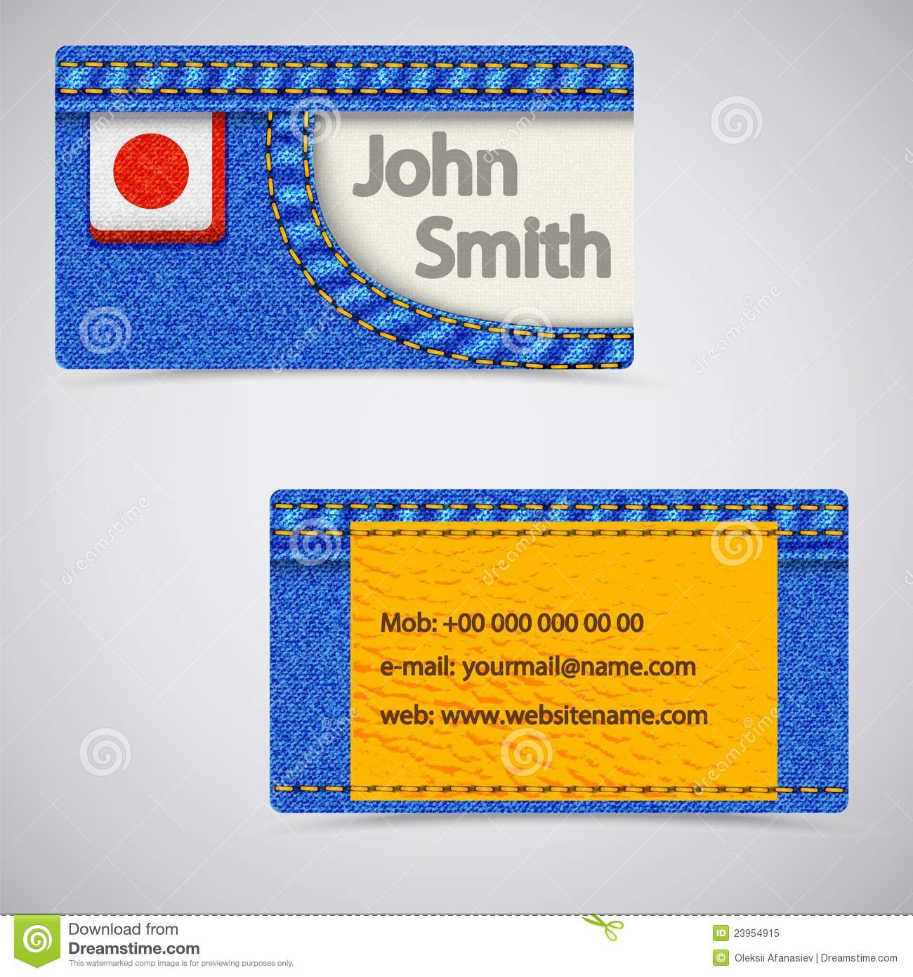 Jeans business card stock vector illustration of indigo 23954915 vector abstract jeans business cards vector illustration reheart Image collections