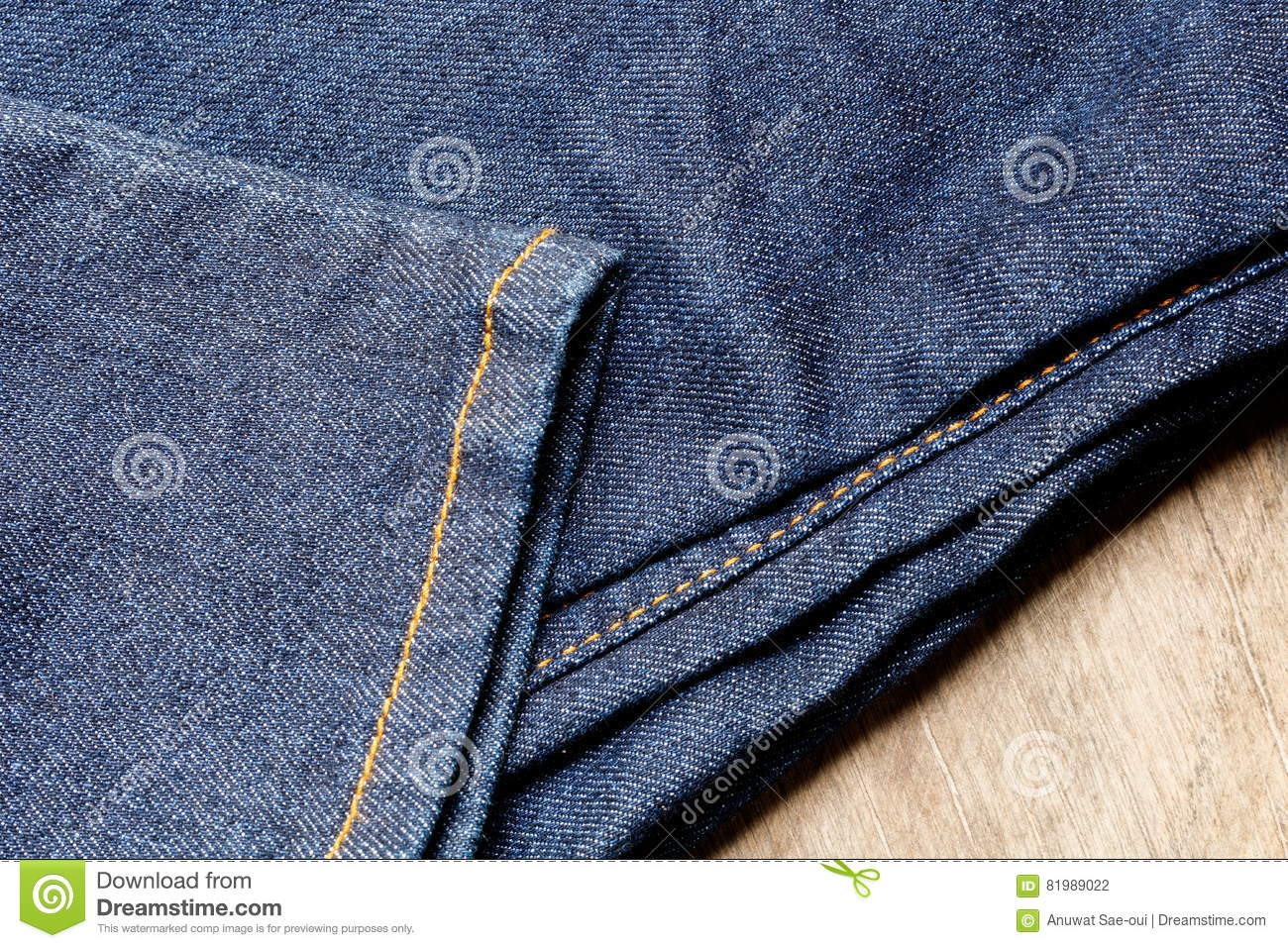 Jeans of denim