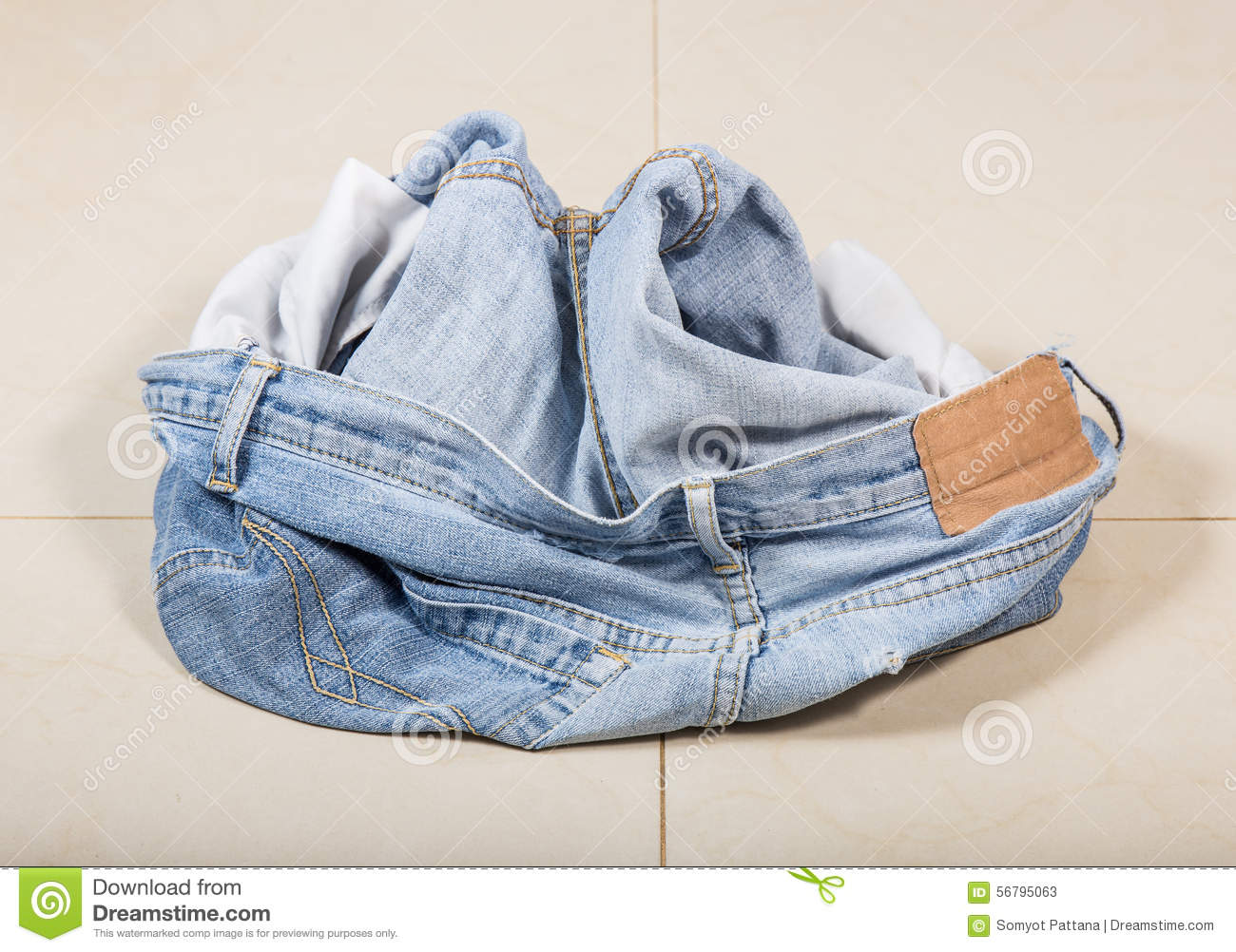 Jeans on the floor stock photo image 56795063 for On the floor on the floor
