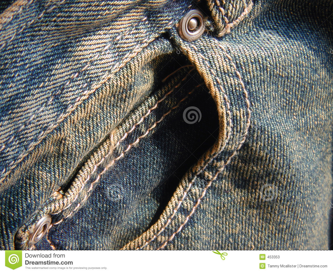 Download Jeans front pocket stock image. Image of famous, background - 453353
