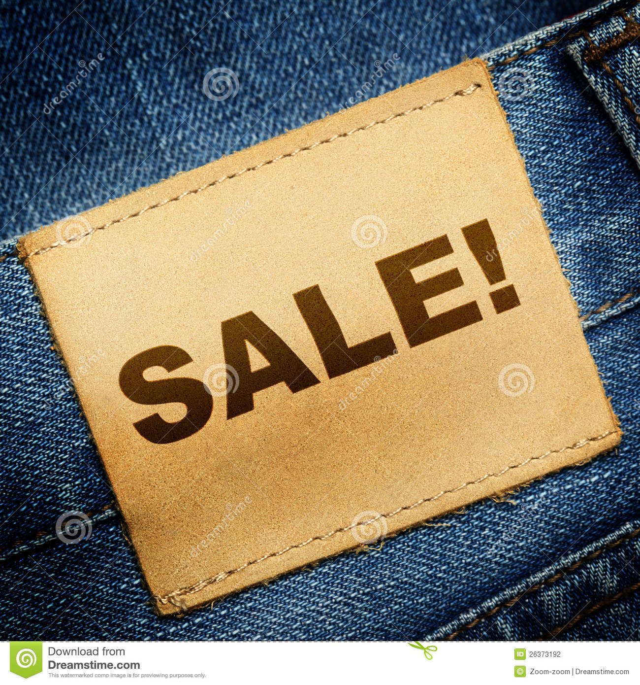 Jeans Label SALE Stock Photography - Image: 26373192