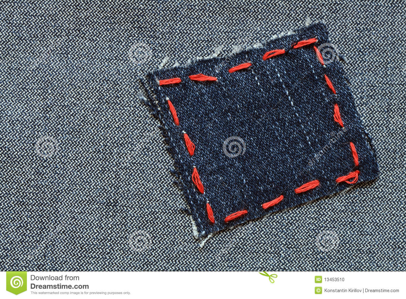 Jeans Patch Stock Photo Image 13453510
