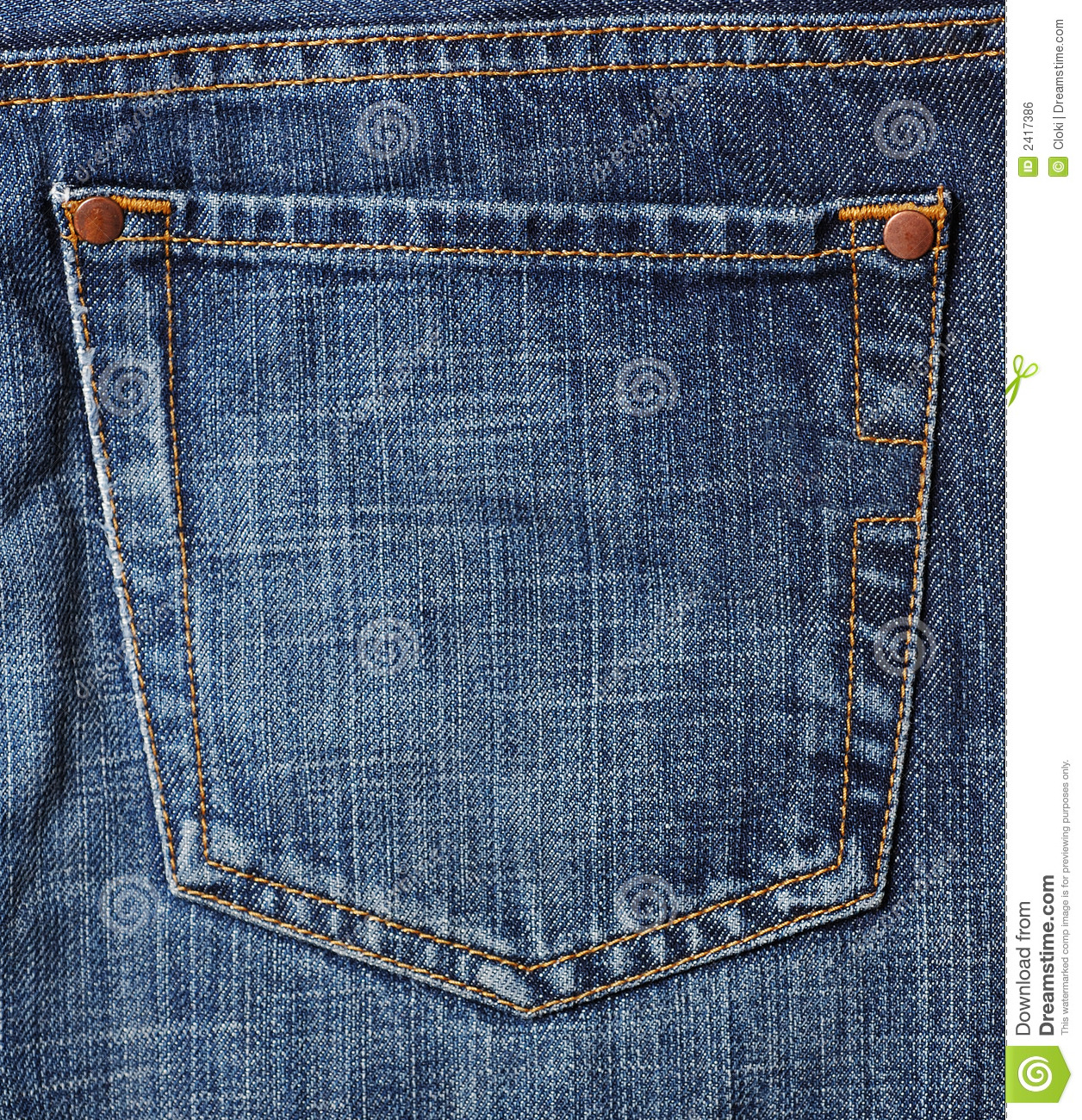 Jeans pocket stock photo. Image of trousers closeup texture - 2417386