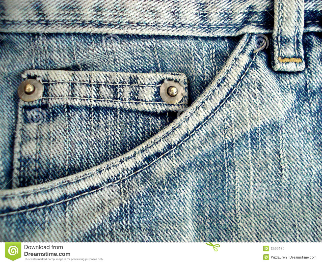 Jeans pocket detail stock photo. Image of washed, clothe ...