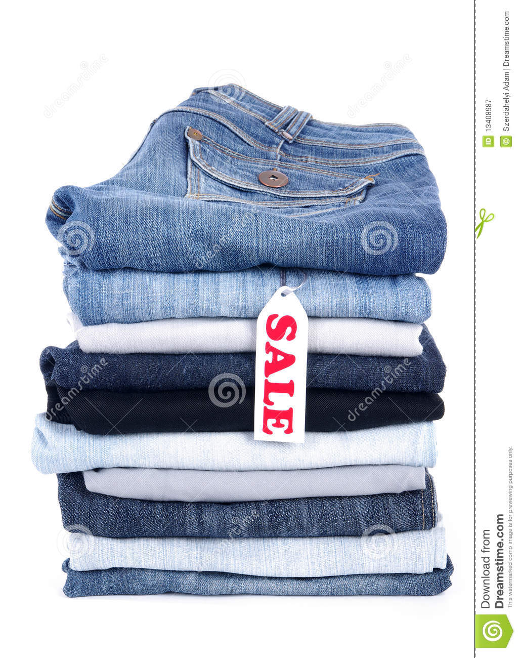 Jeans For Sale Royalty Free Stock Photography - Image: 13408987