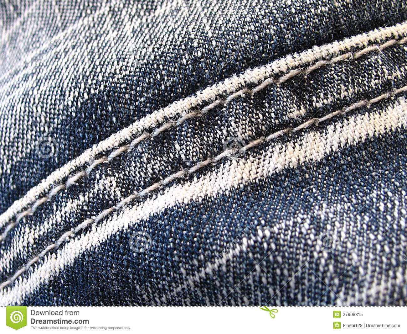 Jeans Seam Royalty Free Stock Image