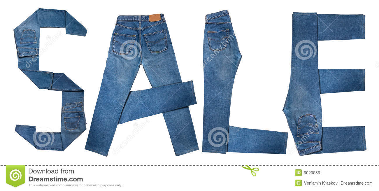 Jeans Text Sale Royalty Free Stock Image - Image: 6020856