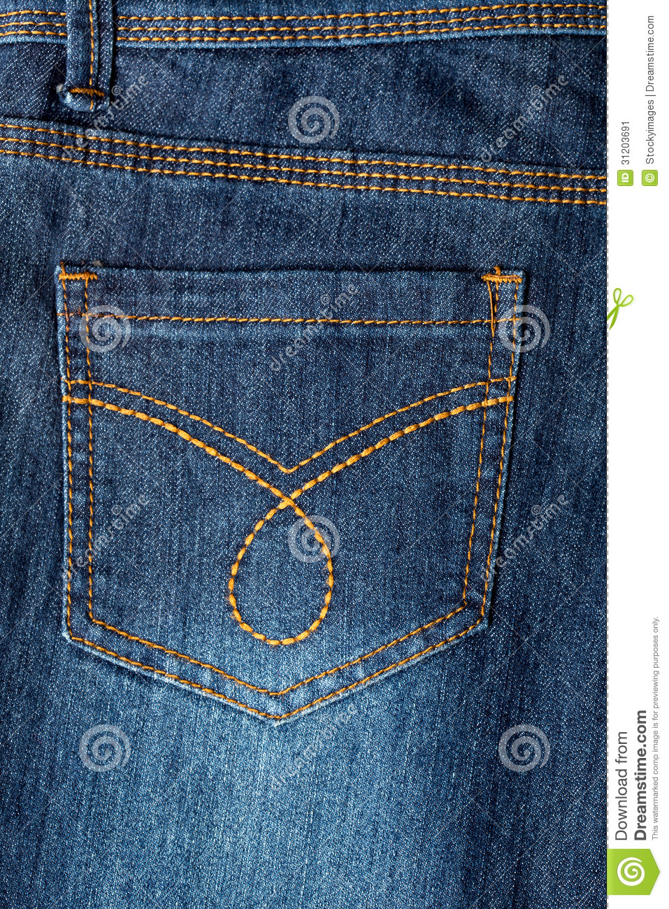 Jeans Back Pocket Texture Jeans Texture With Sea...