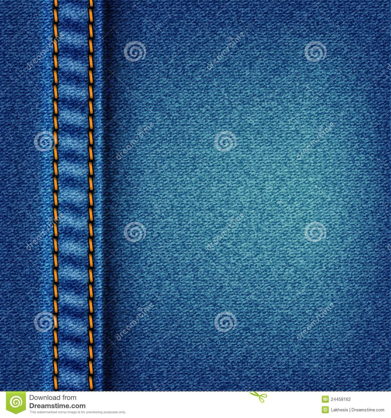 Jeans Texture With Stitch Stock Photography  Image 24458162