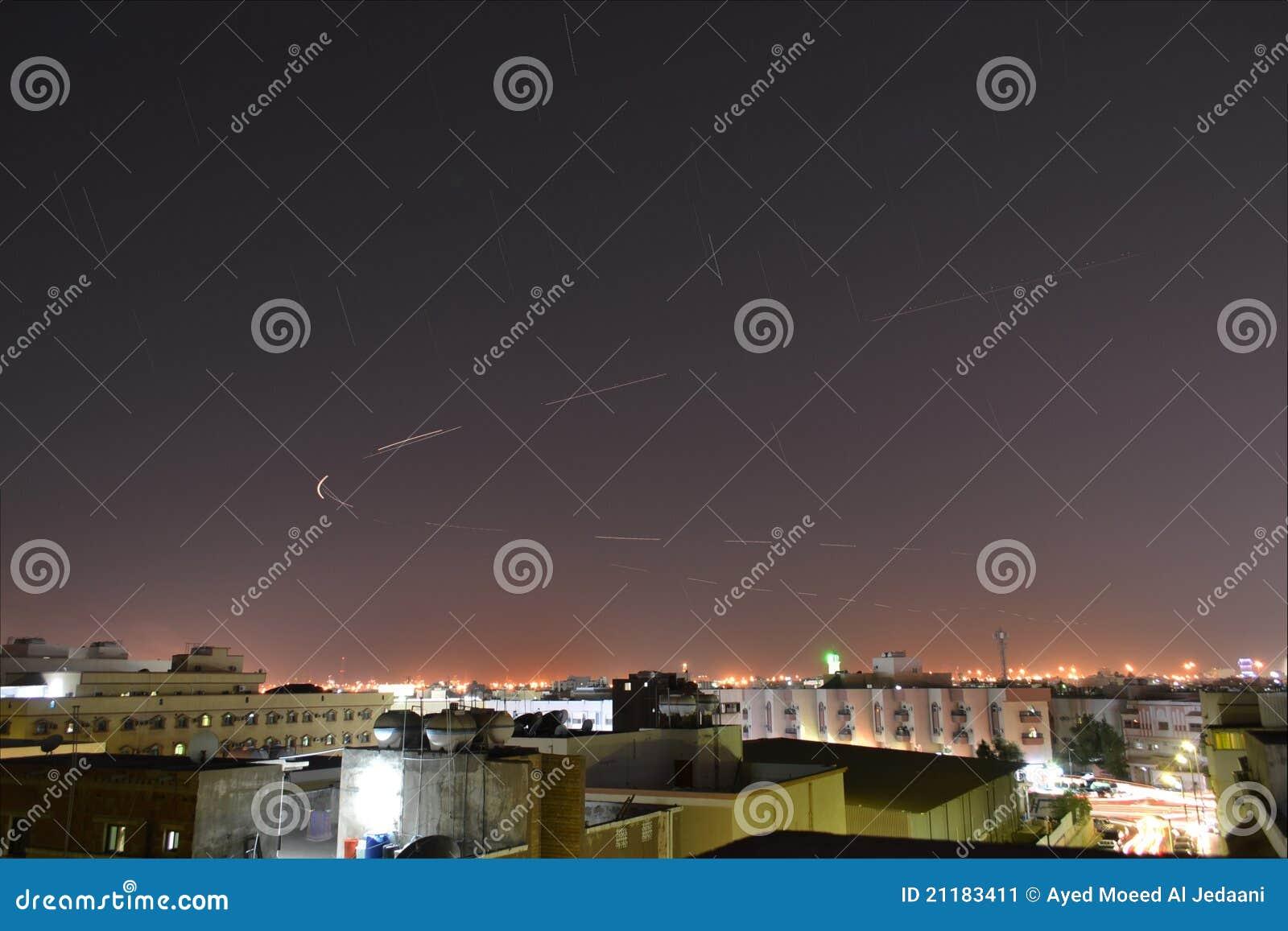 Jeddah at night the stars fall