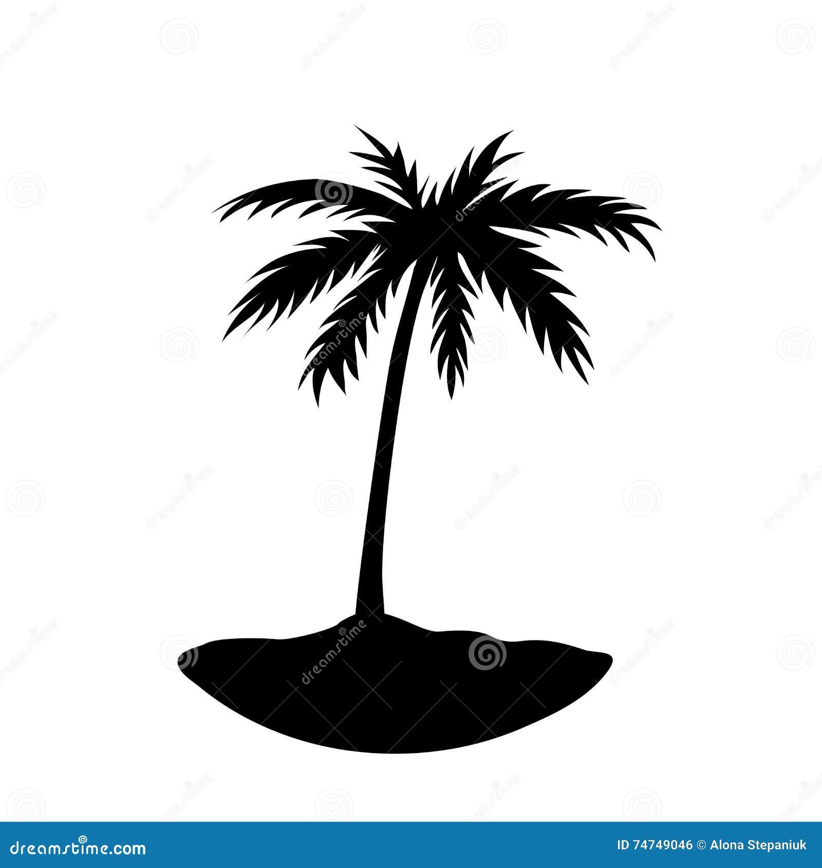 Jeden drzewko palmowe wyspa