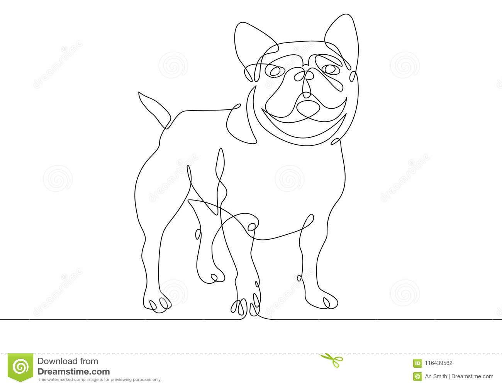 Jeden linia pies