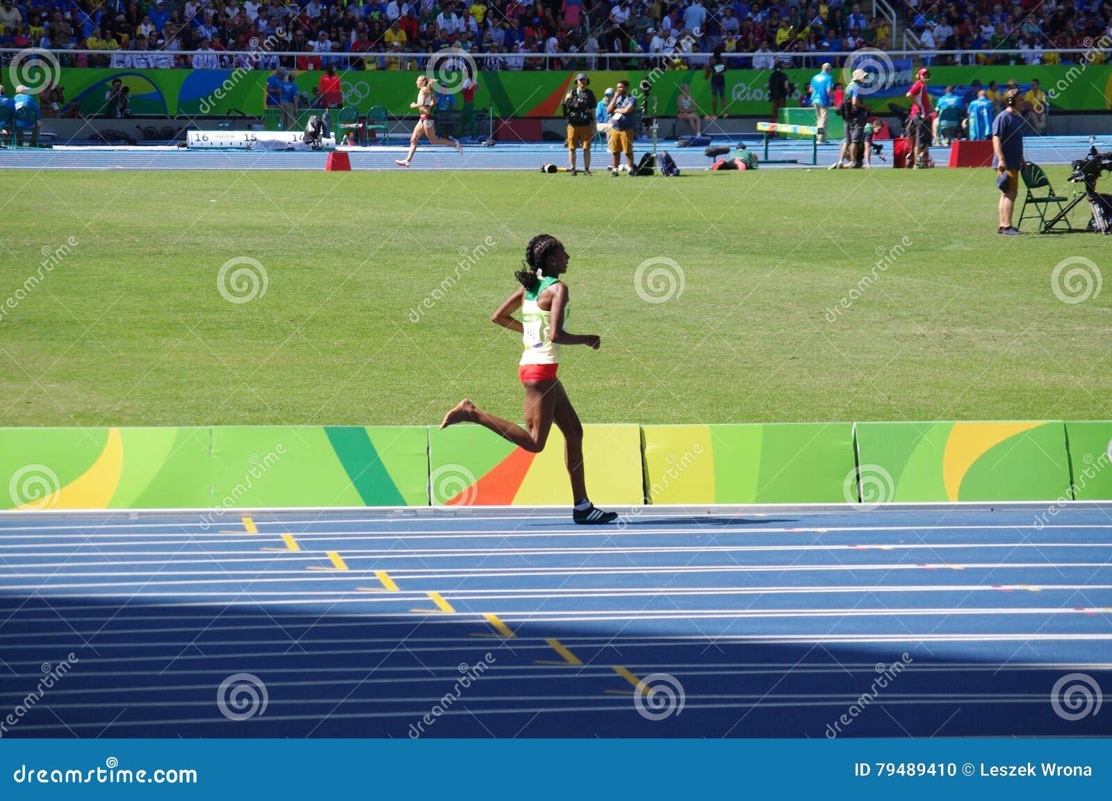 Jeden okuty Etiopski Steeplechaser Etenesh Diro