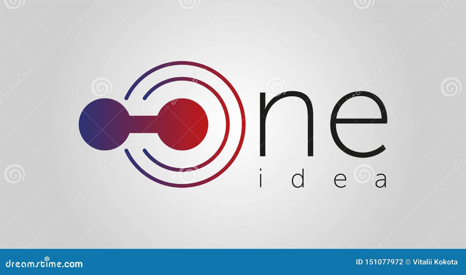 Jeden pomysłu logo, jeden ikona, jeden kreskowa wektorowa ilustracja odizolowywająca na białym tle