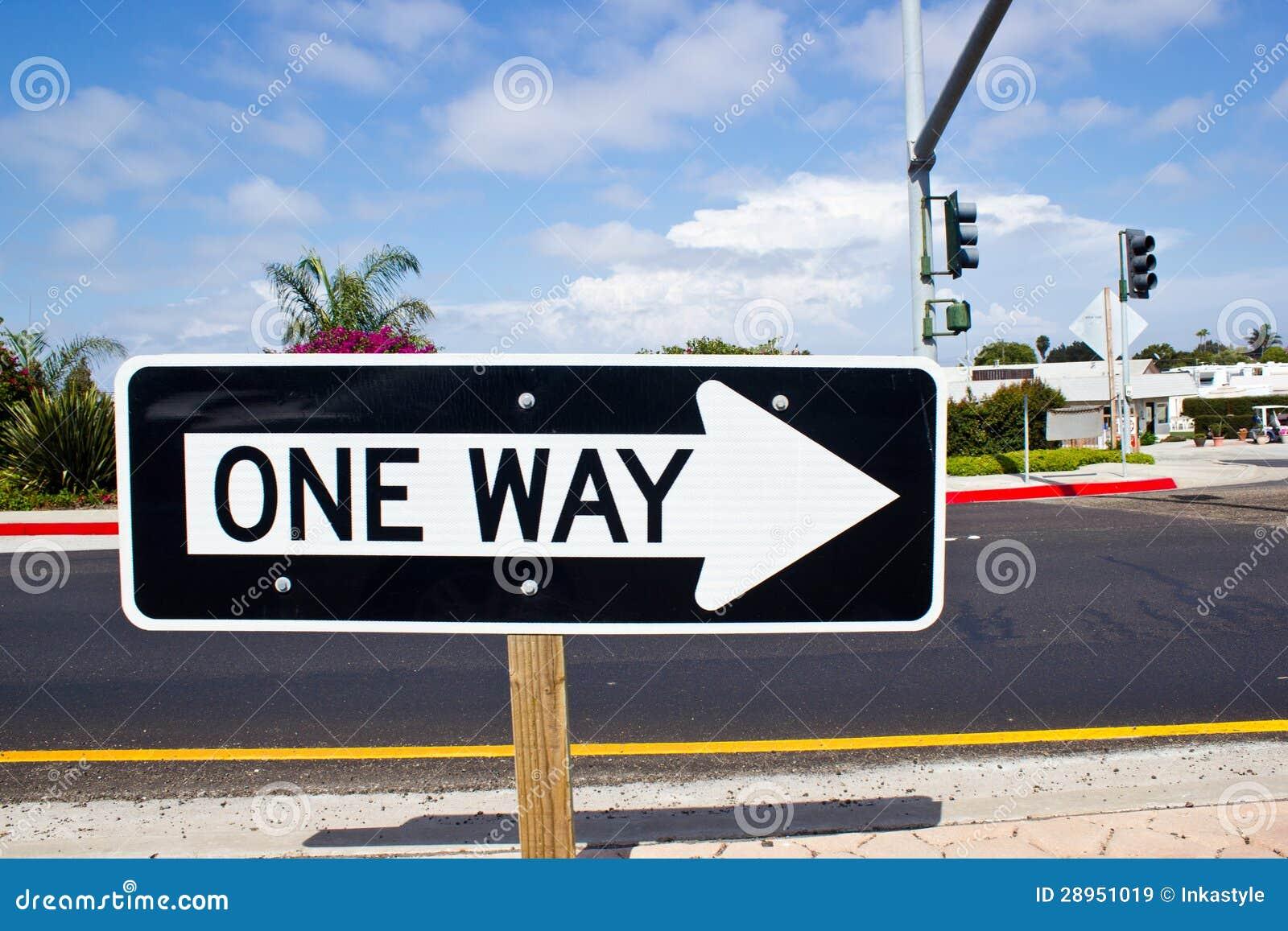 Jeden sposobu drogowy znak