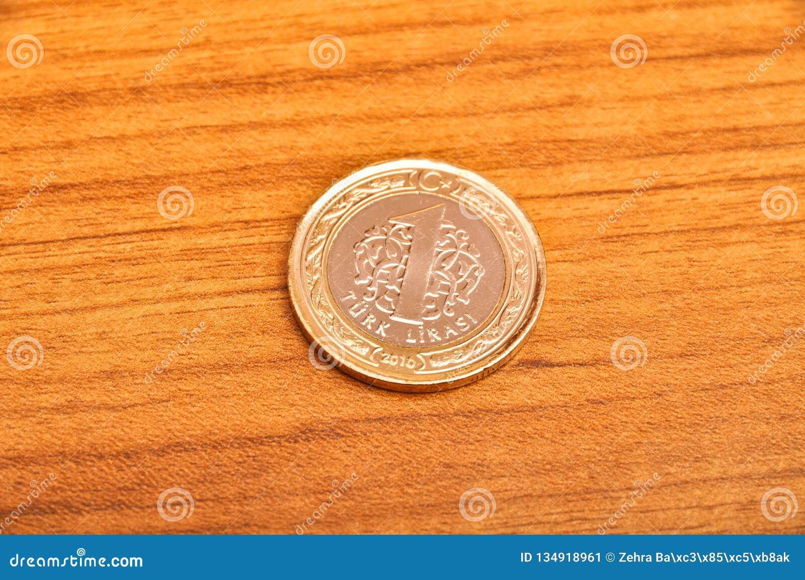 Jeden Tureckiego lira moneta