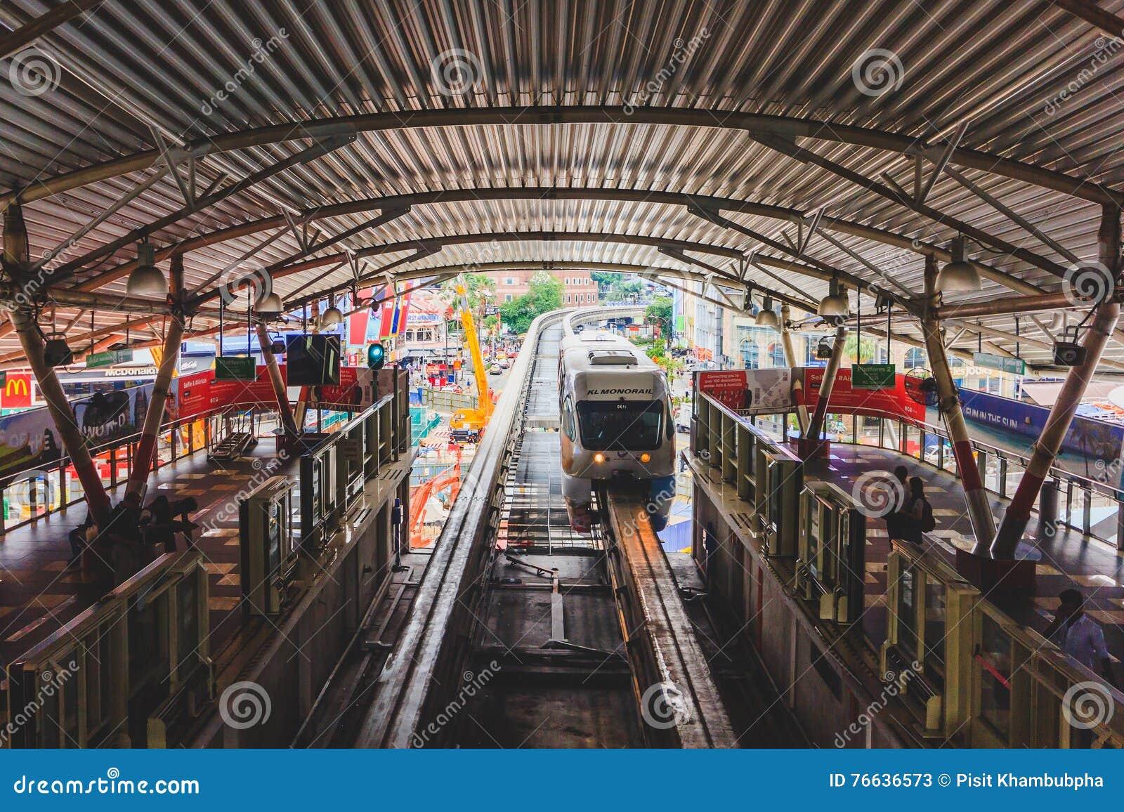 Jednoszynowa stacja Bukit Bintang w Kuala Lumpur, Malezja
