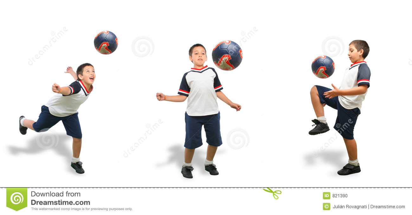 Jedyny dzieciak grać w piłkę
