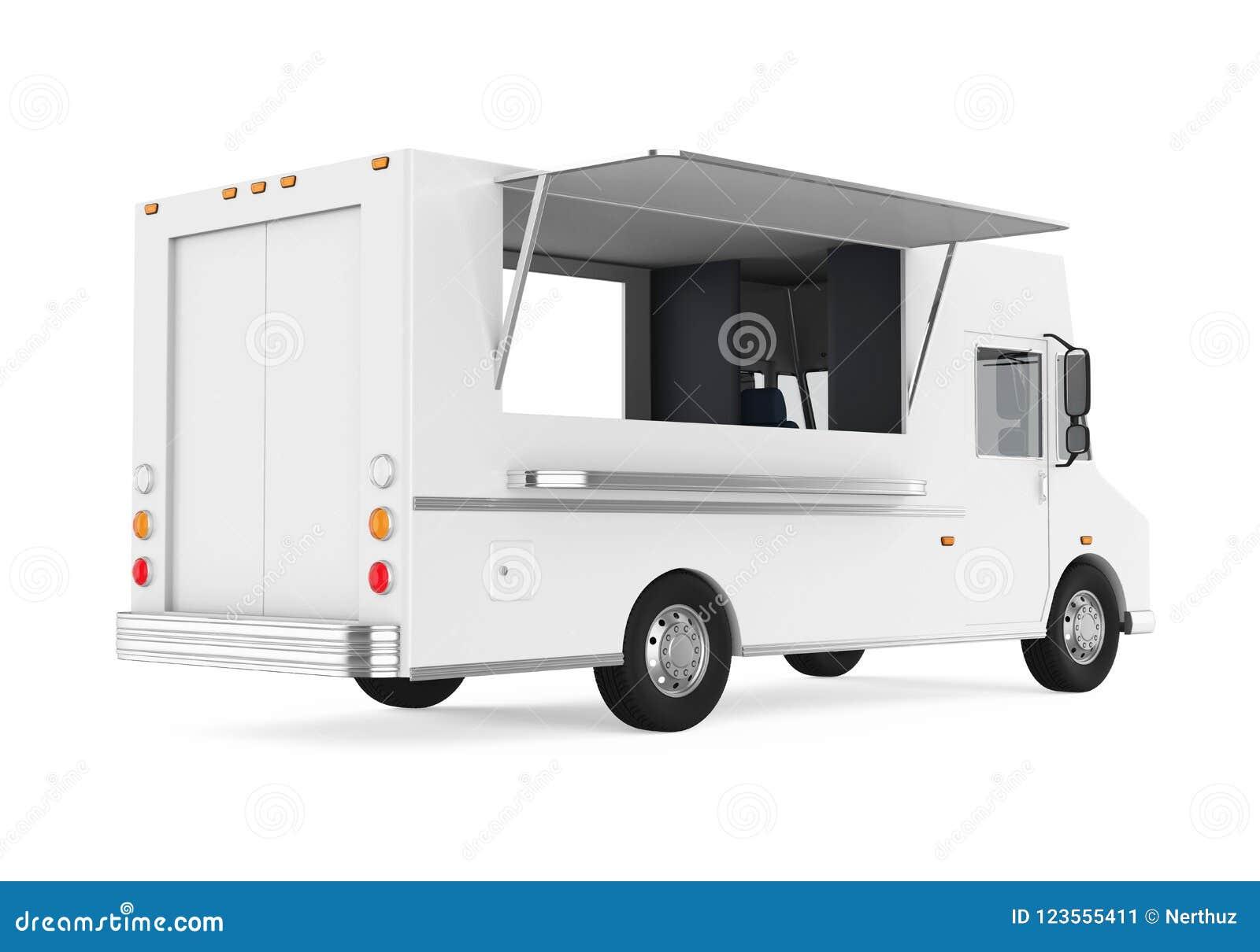 Jedzenie ciężarówka Odizolowywająca