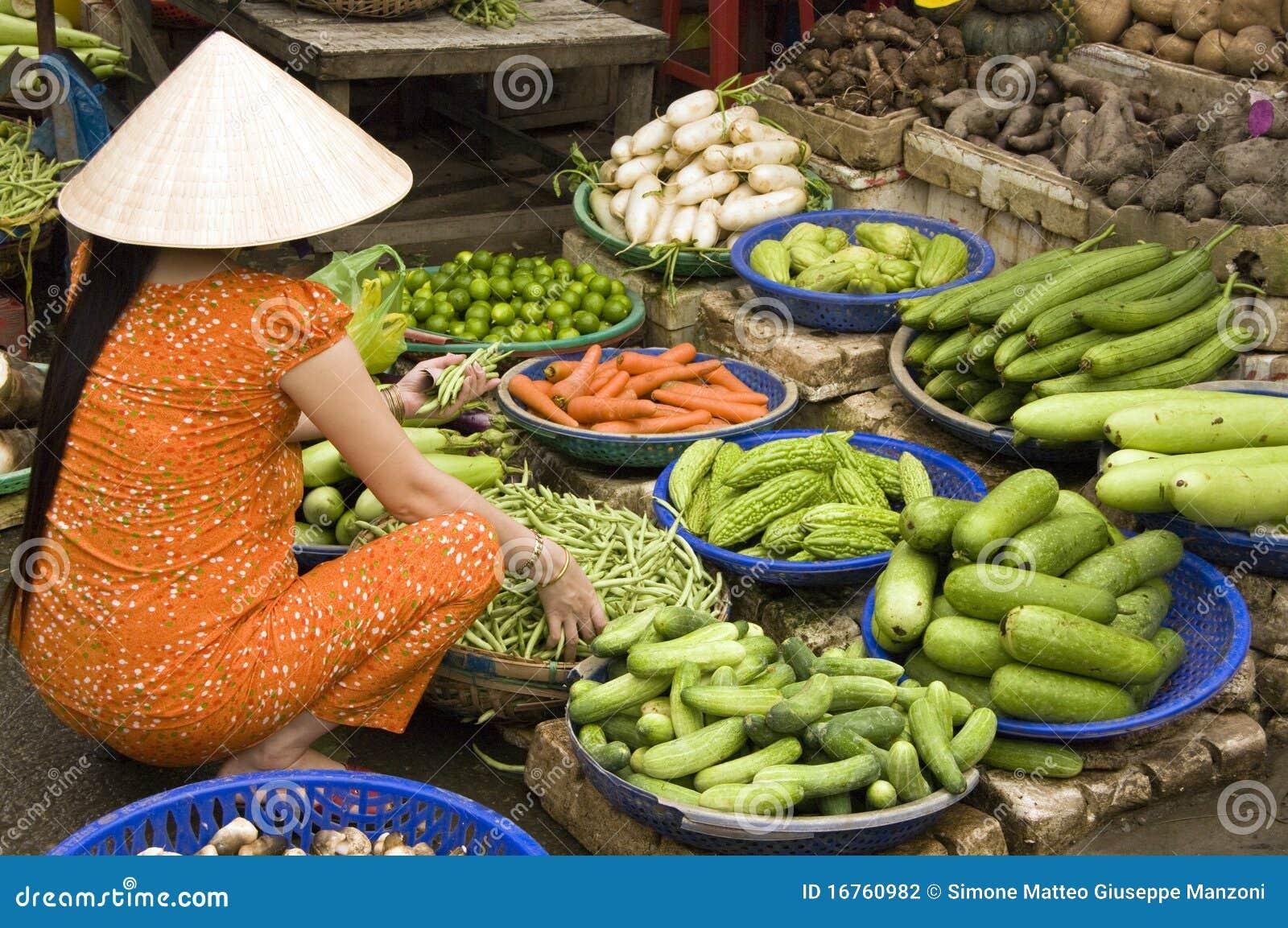 Jedzenie targowy Vietnam