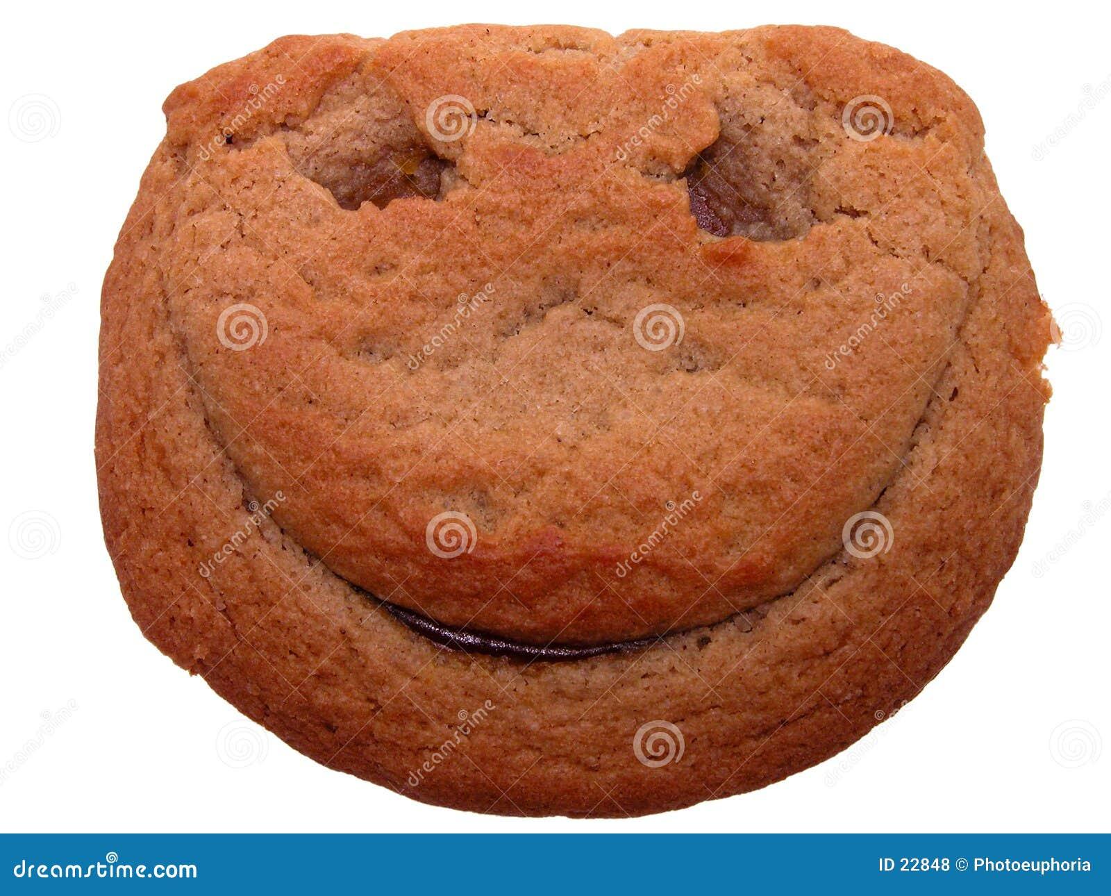 Jedzenie twarzy uśmiech ciastko