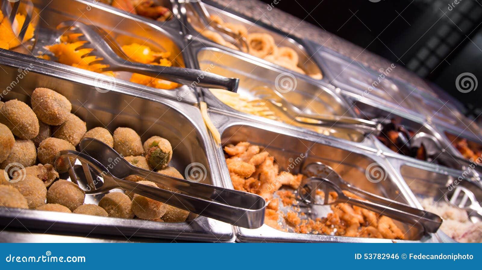 Jedzenie w bufeta chińczyka restauraci