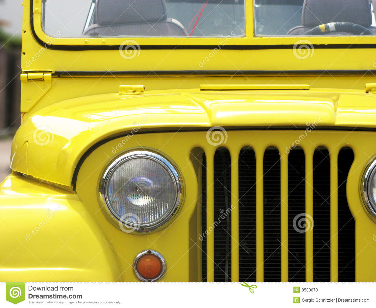 Jeep amarillo Willys