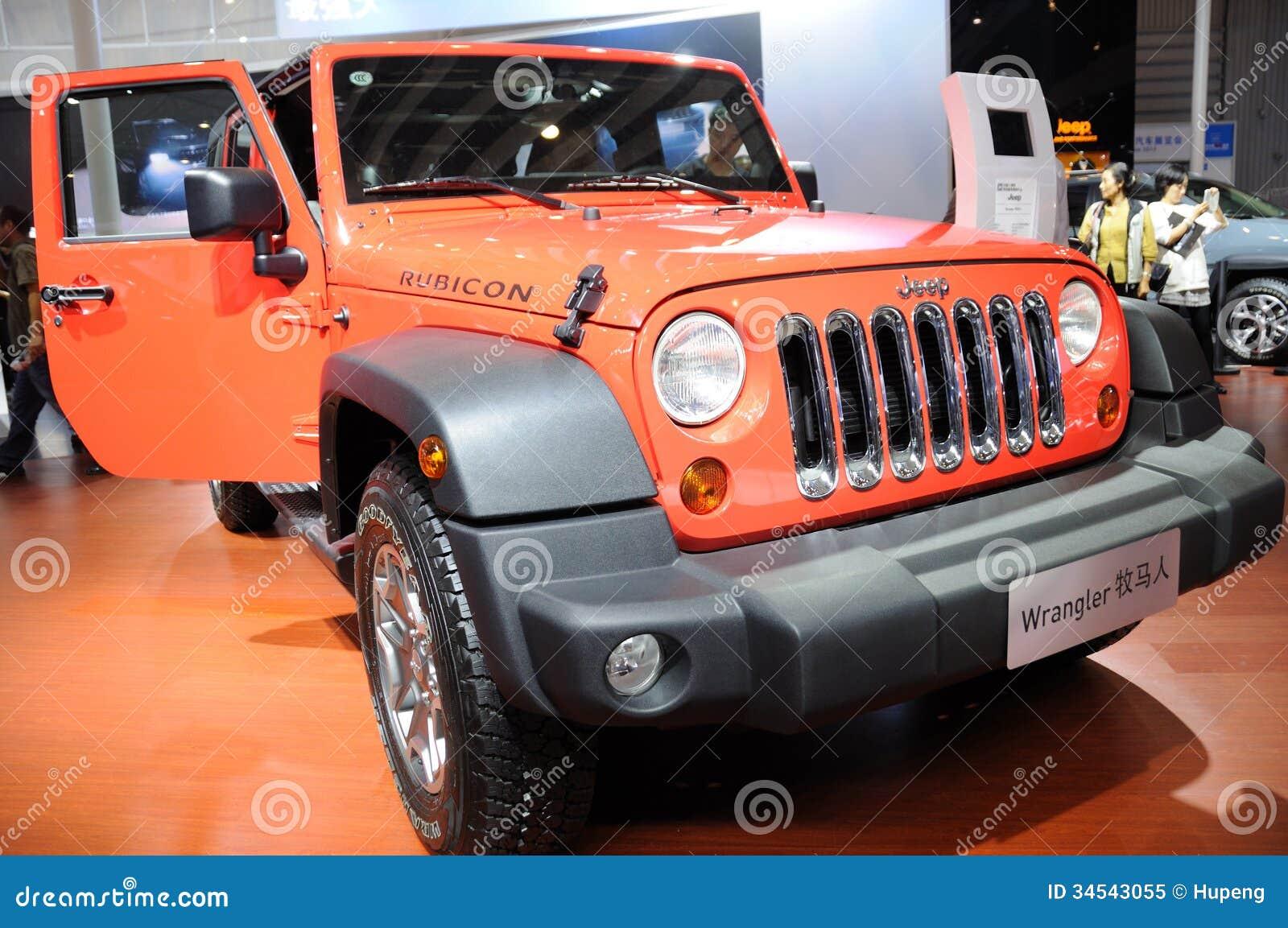 Jeep Anaranjado Wrangler Rubicon Imagen Editorial De Expo