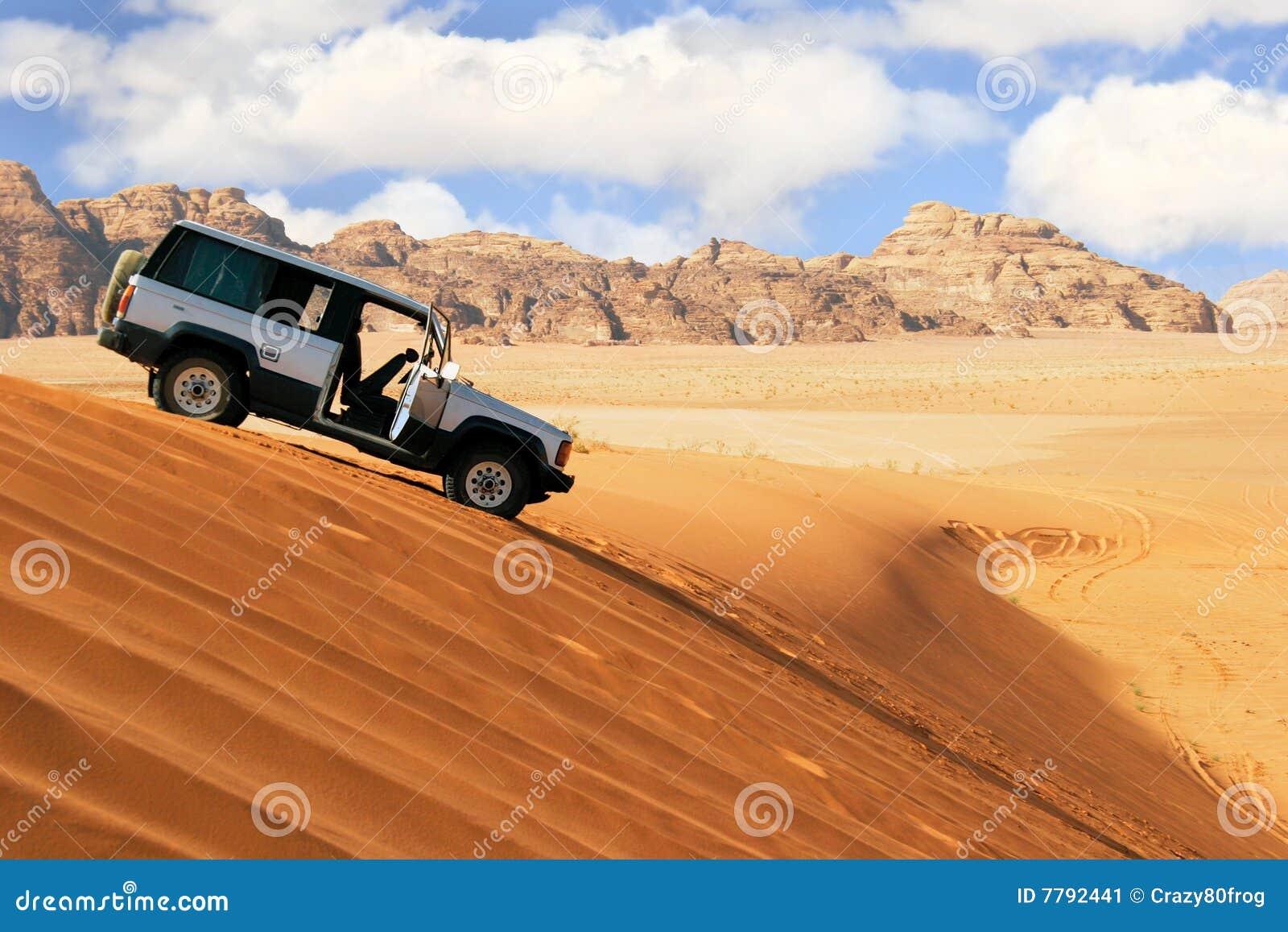 Jeep car in desert