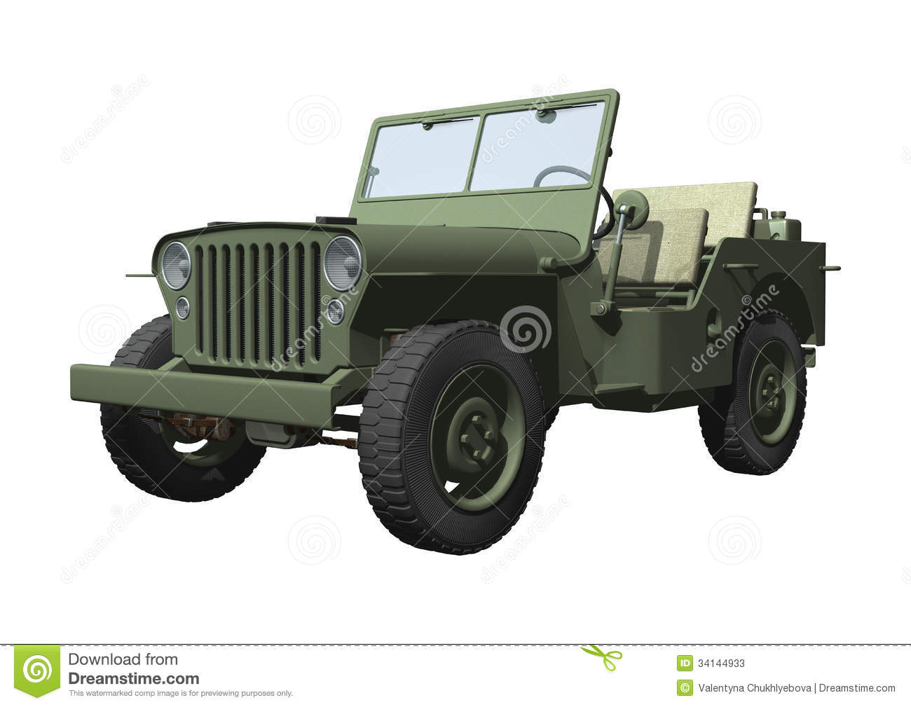 Green Jeep Wrangler >> Jeep stock illustration. Image of rendered, retro, vehicle - 34144933