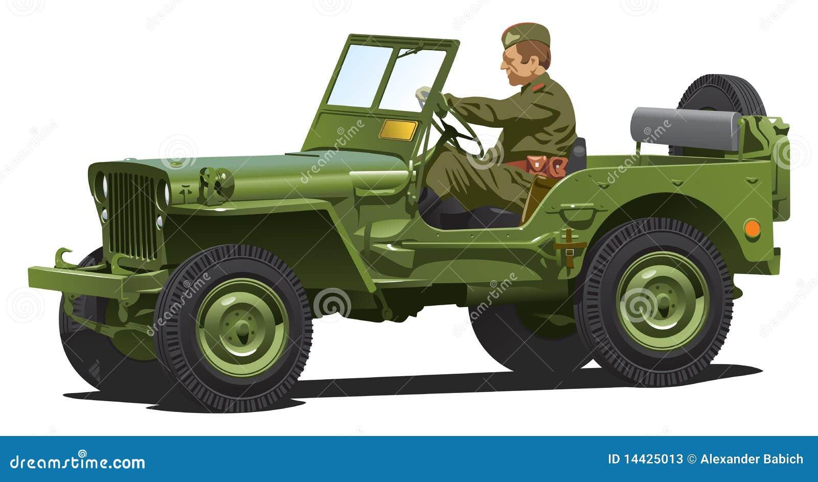 Jeep del ejército de la Segunda Guerra Mundial.