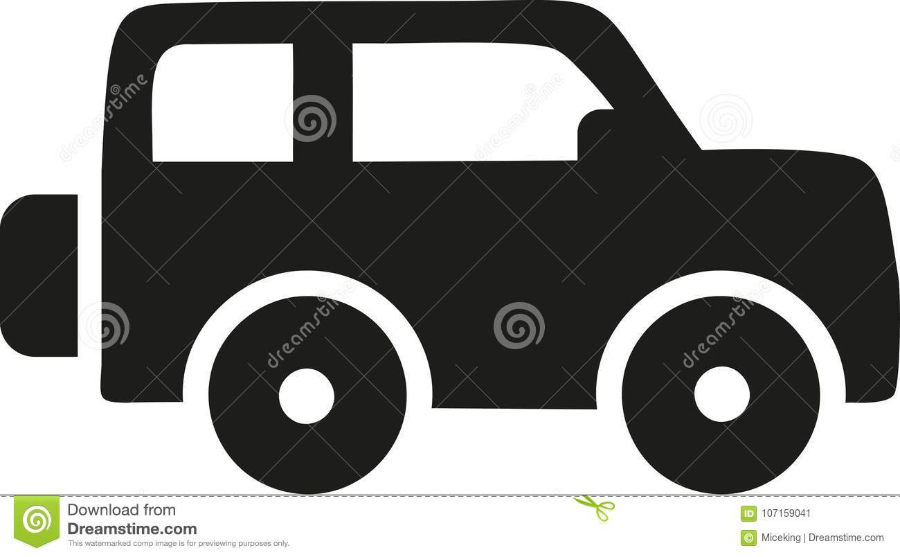 jeep icon vector stock vector illustration of silhouette 107159041