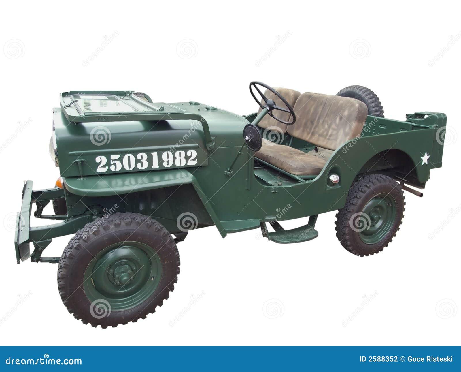 Jeep militar viejo